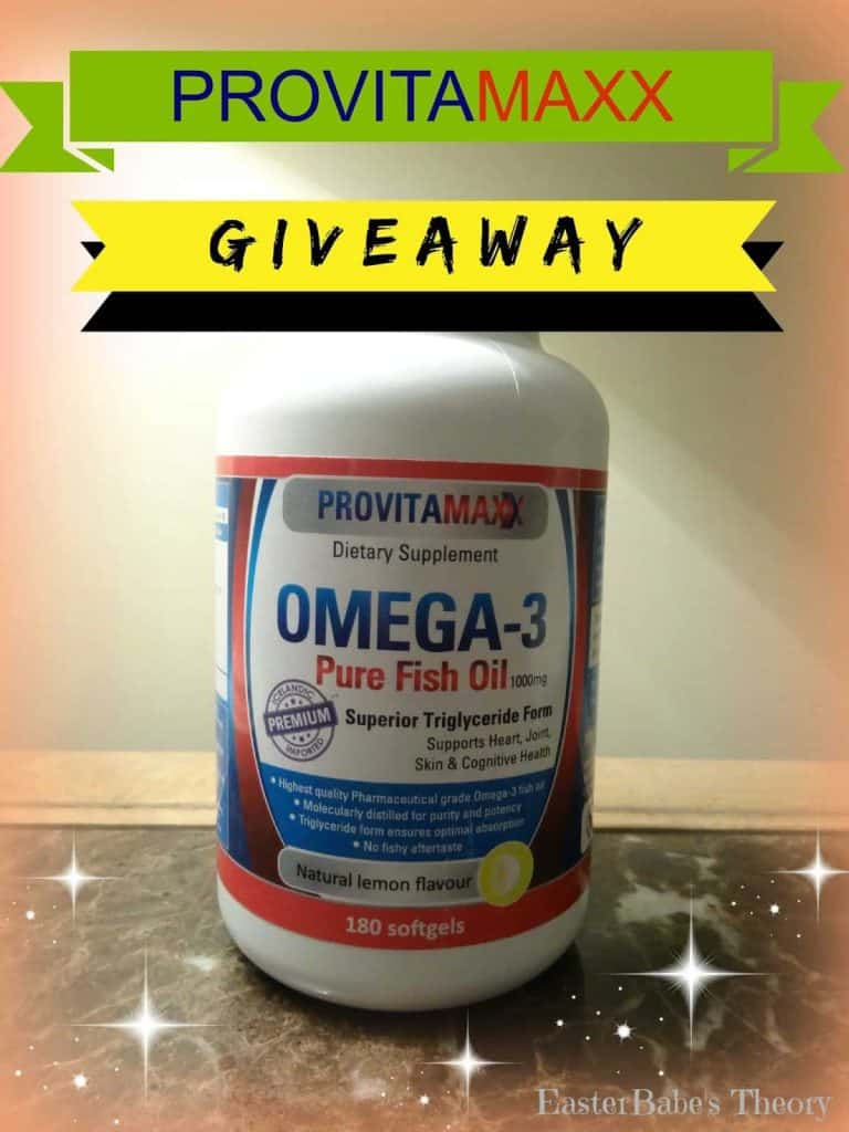 Provitamaxx omega 3 fish oil giveaway easter babe 39 s theory for Fish oil on face