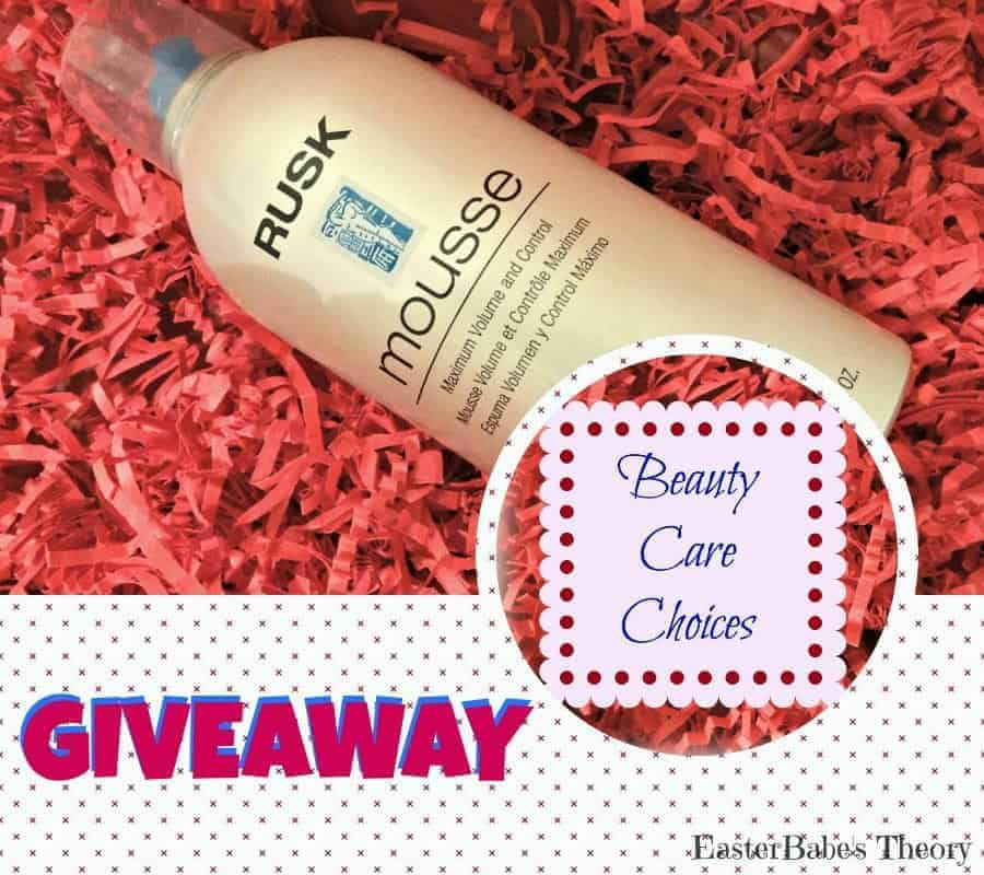 Rusk Mousse with Maximum Volume & Control Review + Giveaway Beauty Care Choices