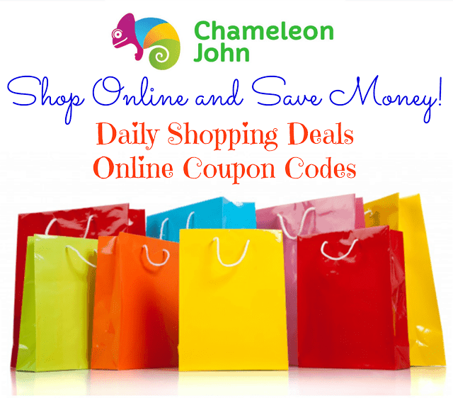 Shop Online and Save Money with ChameleonJohn online coupon code retailers promo codes daily shopping deals