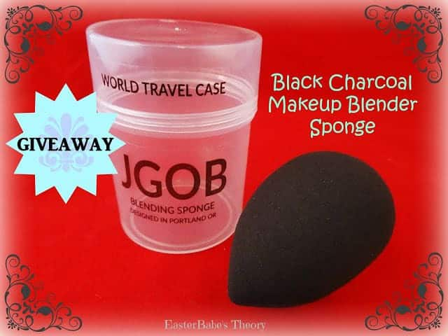 JGOB Black Charcoal Makeup Blender Sponge Giveaway