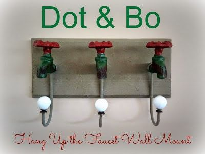 Hang Up the Faucet Iron Wall Mount from Dot & Bo