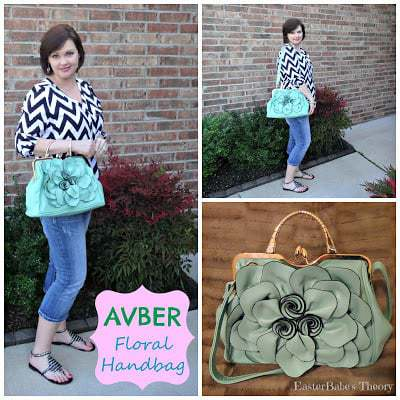 AVBER Womens Fashion Faux Leather Floral Handbag & Crossbody Bag Purse