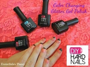 DIY Hard Gel Nail Color Changing Polish