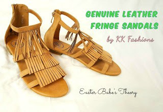Genuine Leather Fringe Gladiator Sandals by KK Fashions