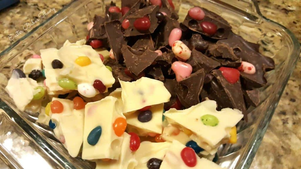 white chocolate gourmet jelly bean bark and milk chocolate cherry bark Gimbals