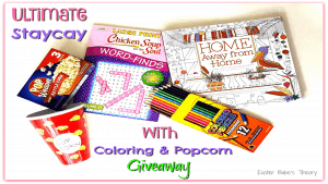 Ultimate Staycay Giveaway with Coloring Book & Popcorn PLUS Namaste Winning Giveaway Blog Hop