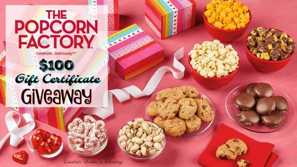 The Popcorn Factory Gift Certificate Blog Giveaway