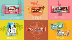 HERSHEY'S LIMITED EDITION 'FLAVORS OF AMERICA' COLLECTION