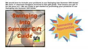 Swinging into Summer Gift Gift Sponsor Information