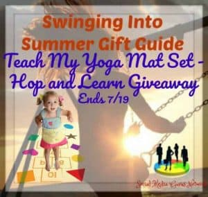Enter to win a Teach My Yoga Mat Set - Hop and Learn