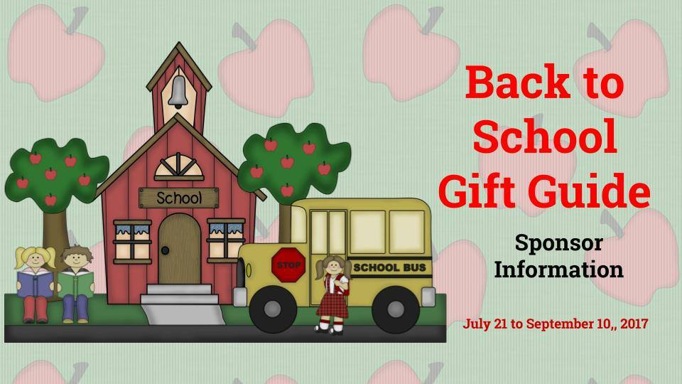Back To School Gift Guide Sponsors Information