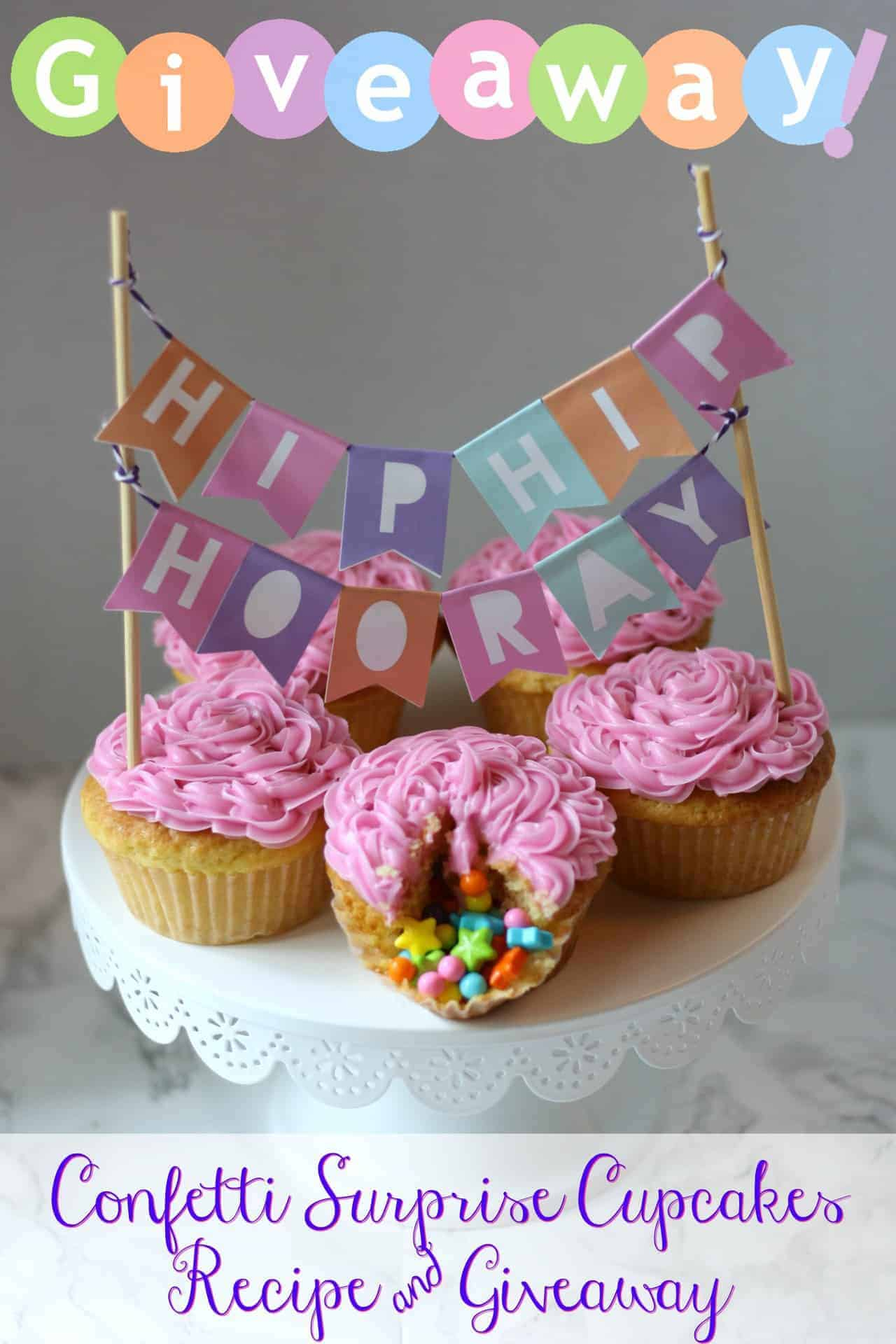 Confetti Surprise Cupcake Recipe & Celebration by Frey Candy Prize Pack Giveaway