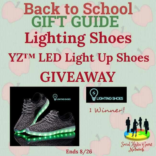 Lighting Shoes ~ YZ LED Light Up Shoes Giveaway