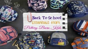 Back To School Essentials from Pottery Barn Kids