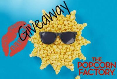 win a 6 1/2 Gallon Popcorn Lover Tin of mouth watering Popcorn from The Popcorn Factory.