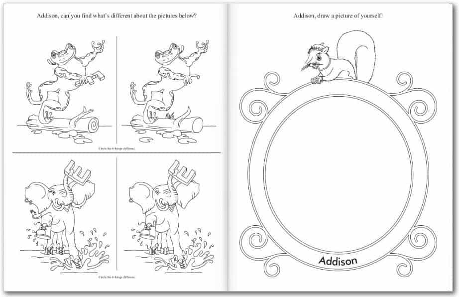 I See Me Personalized My Very Own Coloring Book Activities