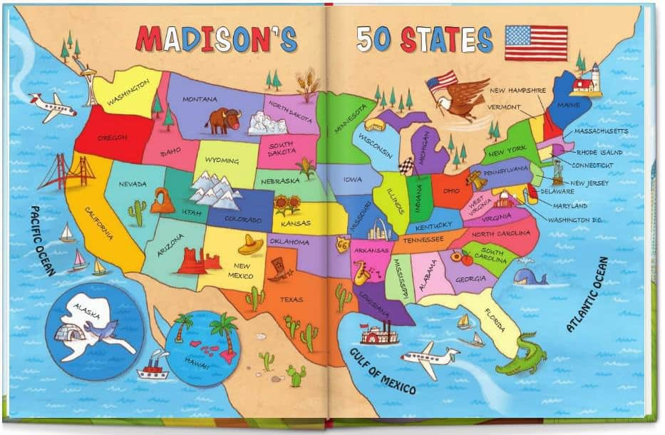I See Me Personalized USA Road Trip Map