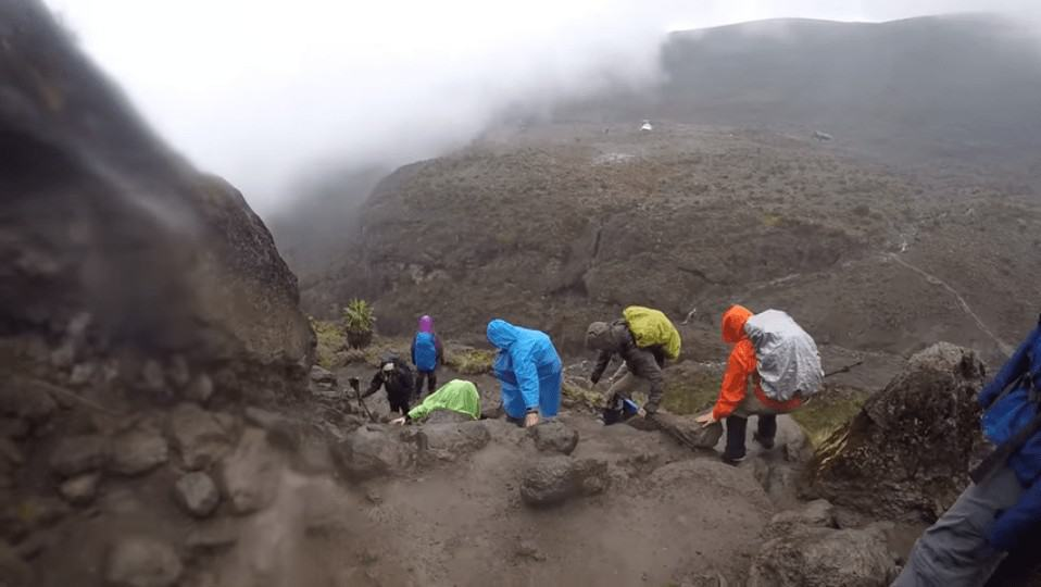 Rain on Mount Kilimanjaro Trekking Uhuru Point Africa