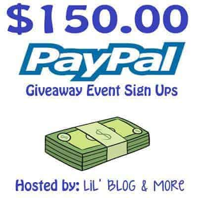 PayPal $150 Giveaway Blogger Opp