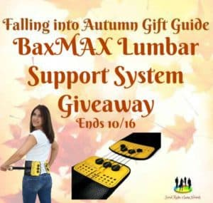 BaxMAX Lumbar Support System Giveaway