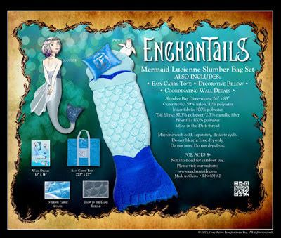 Enchantails Mermaid Slumber Bag and Books Giveaway