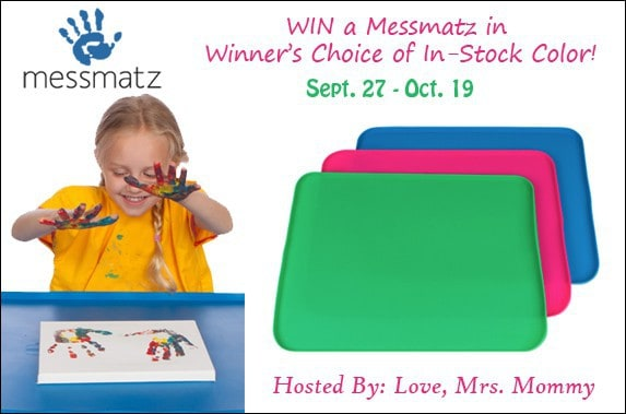 MessMatz Creativity Mat for Kids & Adults Giveaway