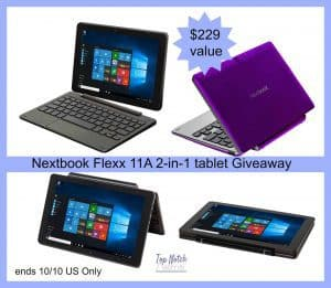 Nextbook Flexx 11A Touch Tablet/Laptop Giveaway