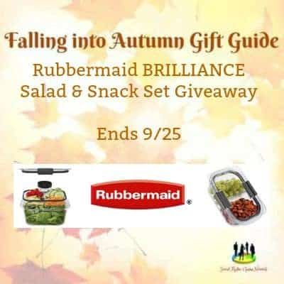 Rubbermaid Brilliance Salad & Snack Set Giveaway