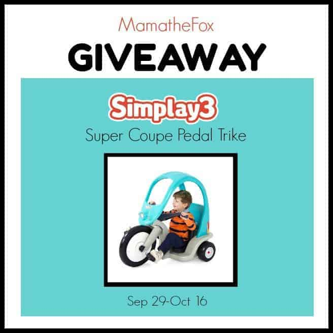 Simplay3 Super Coupe Pedal Trike Giveaway