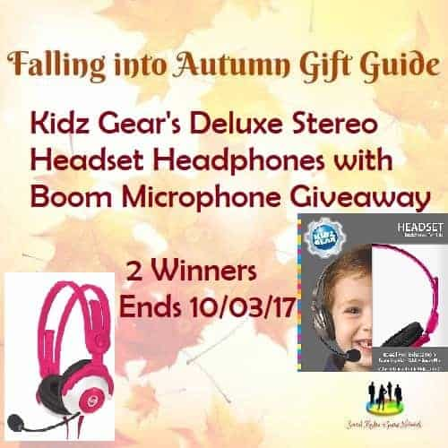 The Kidz Gear's Deluxe Stereo Headset Headphones with Boom Microphone Giveaway