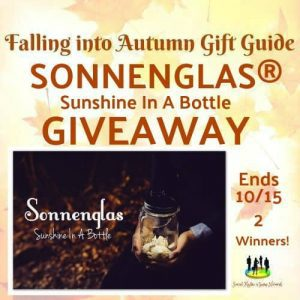 The SONNENGLAS ~ Sunshine In A Bottle Giveaway (2-Winners)