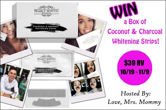 Pearly Whites Coconut & Charcoal Whitening Strips Giveaway