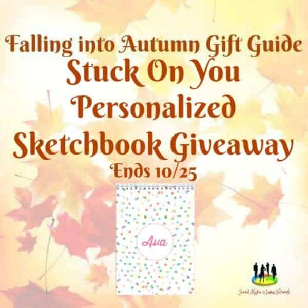 Stuck On You Personalized Sketchbook Giveaway