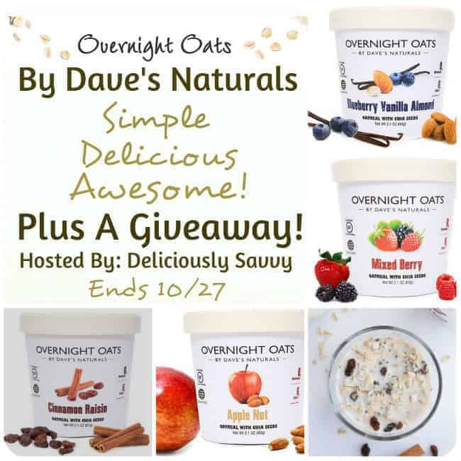 Welcome to the Overnight Oats By Dave's Naturals (Simple, Delicious, Awesome!) Plus A Giveaway!