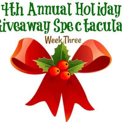 4th Annual Holiday Giveaway Spectacular: Week Three