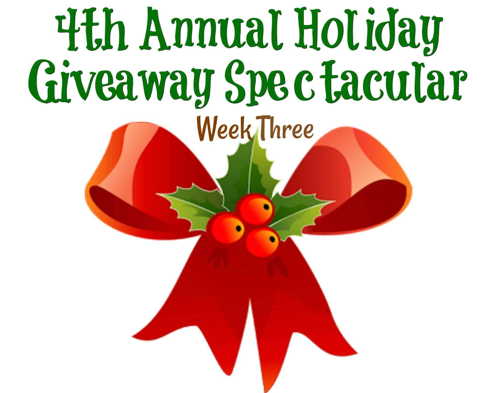 4th Annual Holiday Giveaway Spectacular Week Three