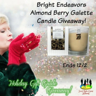 Bright Endeavors Almond Berry Galette Candle Giveaway