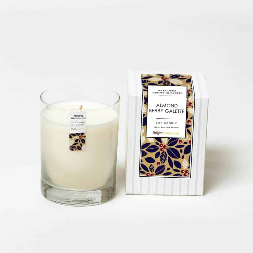 Bright Endeavors Soy Almond Berry Galette Candle
