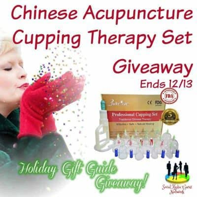 Chinese Acupuncture Cupping Therapy Set Giveaway