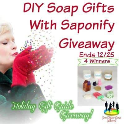DIY Soap Gifts With Saponify Giveaway (4-Winners)