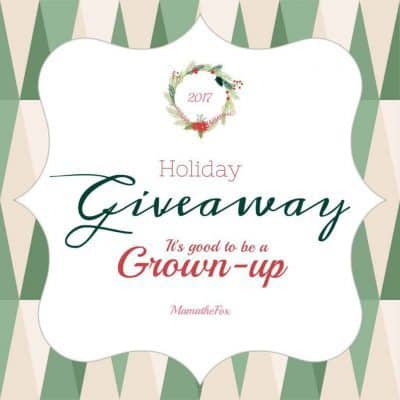 It's Good To Be a Grown-Up Holiday Giveaway (2-Winners)