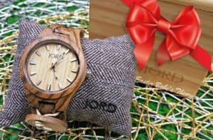 JORD Wood Watch Fieldcrest Series Zebrawood and Maple Wood Holiday Gift