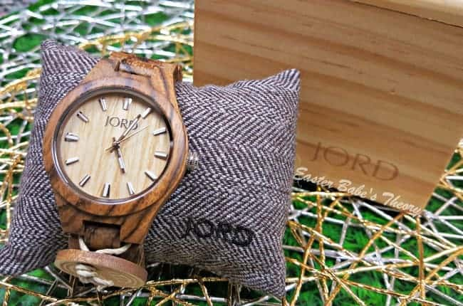 JORD Wood Watch Fieldcrest Series Zebrawood and Maple Wood