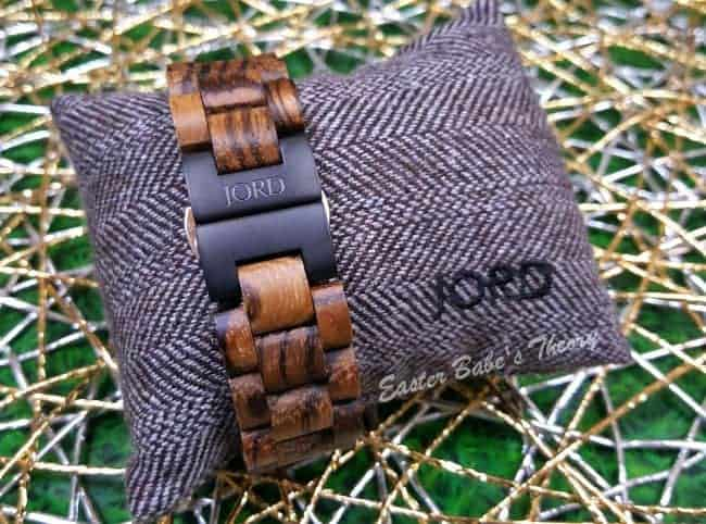 JORD Wood Watch Zebrawood and Maple with Silver Butterfly Closure