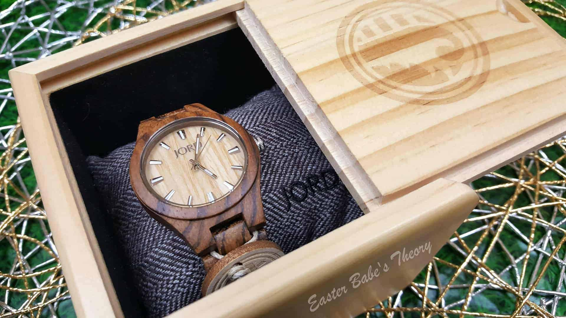 JORD Wood Watch Zebrawood and Maple with Silver
