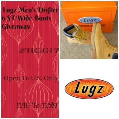 Lugz Men's Drifter 6 ST Wide Boots Giveaway