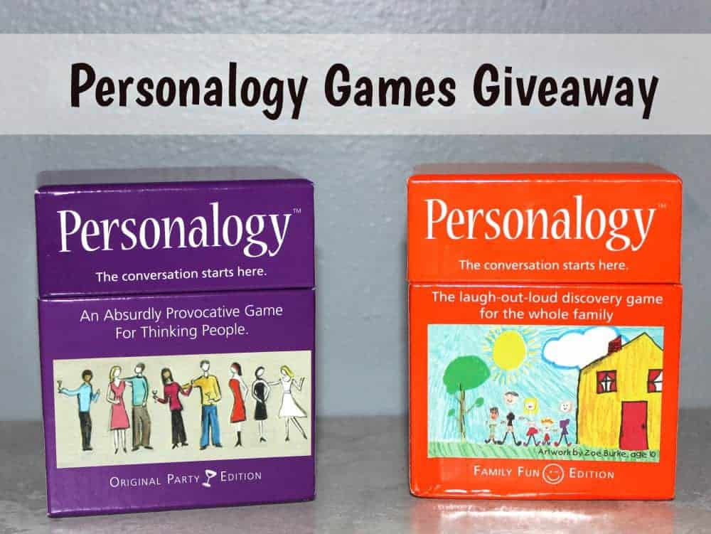 Personalogy Games Giveaway