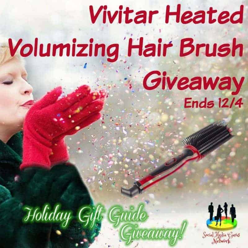Vivitar Heated Volumizing Hair Brush Giveaway