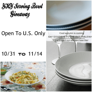 YHY White Porcelain Serving Bowl Giveaway