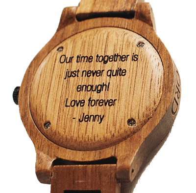 JORD Wood Watch Engraved Backplate